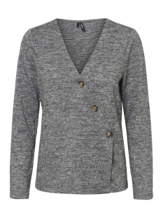 Vero Moda Trui VMMALENA BUTTON DETAIL L/S BLOUSE S 10214563 Medium Grey Melange
