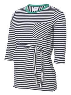 Mama-Licious Positie shirt MLGINA 3/4 JERSEY TOP A. V. 20009535 Navy Blazer/Y/D STRIPE