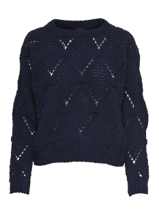 Only Trui onlYASMIN L/S STRUCTURE PULLOVER CC 15169515 Night Sky
