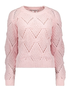 onlyasmin l/s structure pullover cc 15169515 only trui blushing bride