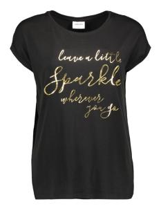 Vero Moda T-shirt VMAVA PLAIN SS TOP AOP GA 10211788 Black/SPARKLE GO