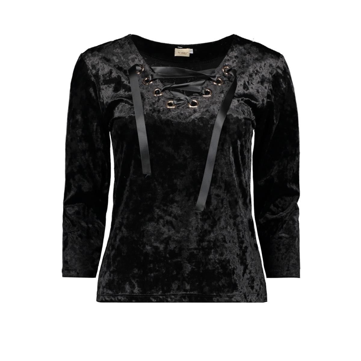 3435 shirt velvet iz naiz t-shirt black