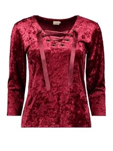 IZ NAIZ T-shirt 3435 SHIRT VELVET RED