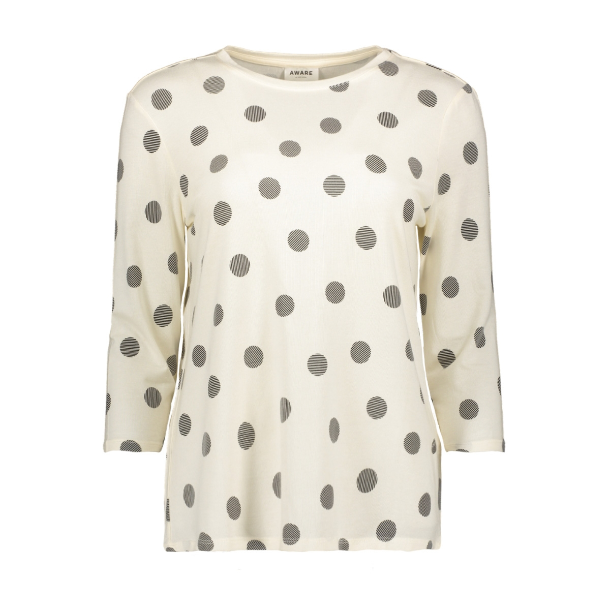 vmava 3/4 dot top ga 10209920 vero moda t-shirt pristine/demi black