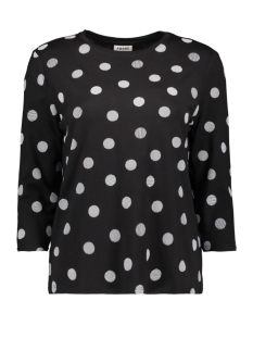 Vero Moda T-shirt VMAVA 3/4 DOT TOP GA 10209920 Black/DEMI WHITE
