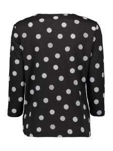 vmava 3/4 dot top ga 10209920 vero moda t-shirt black/demi white
