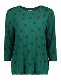 Vero Moda T-shirt VMAVA 3/4 DOT TOP GA 10209920 Alpine Green/DEMI BLACK