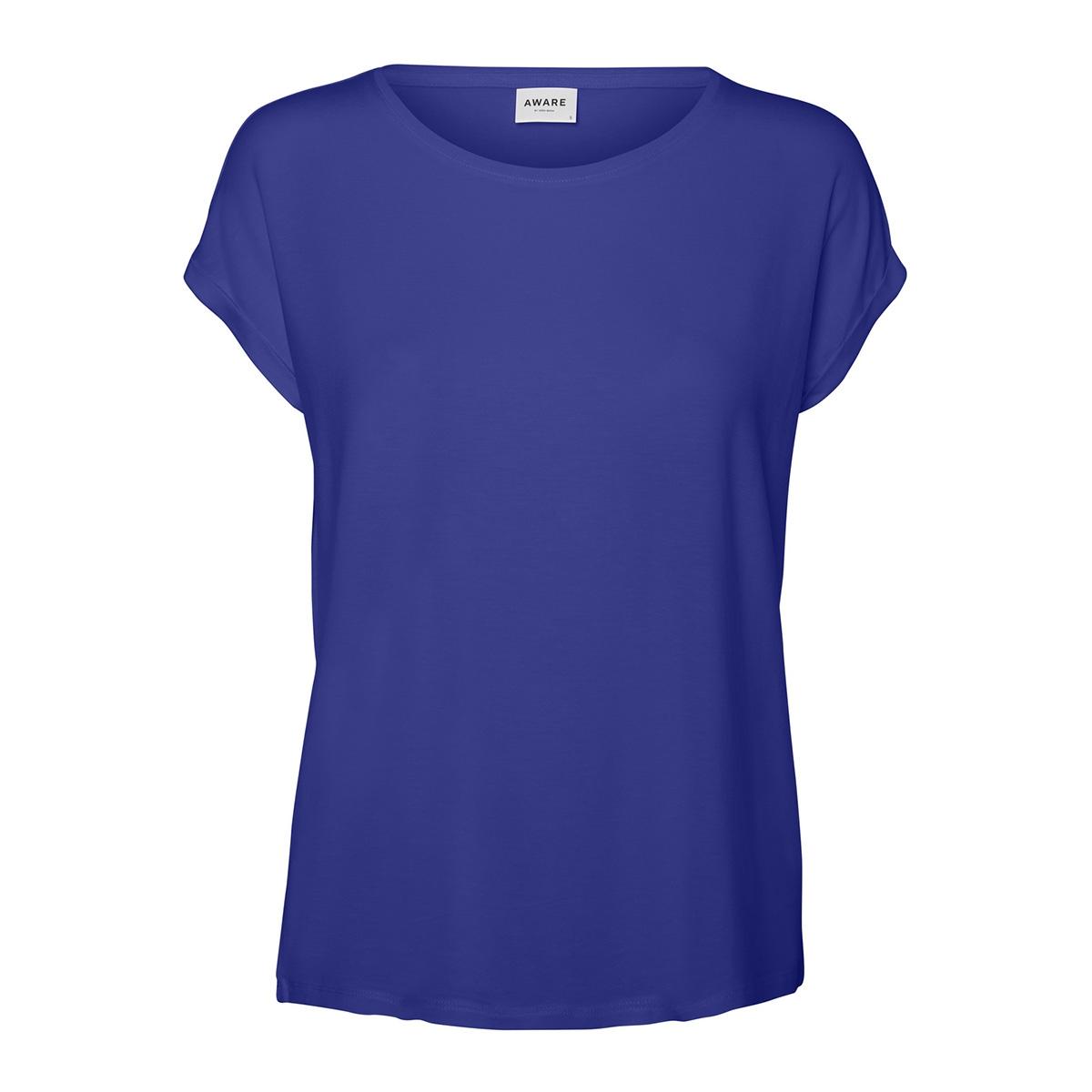 vmava plain ss top ga color 10195724 vero moda t-shirt royal blue