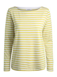 pcingrid ls top noos 17087007 pieces t-shirt bright white/lemon chro