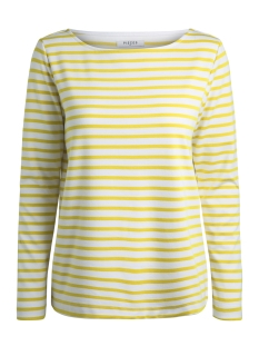 Pieces T-shirt PCINGRID LS TOP NOOS 17087007 Bright White/LEMON CHRO