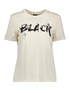 Vero Moda T-shirt VMCHIC S/S T-SHIRT FD18 10215028 Pristine/BLACK TEXT