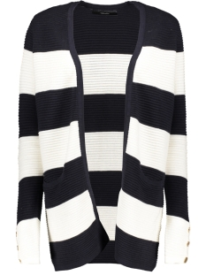 vmsethe ls open cardigan 10207964 vero moda vest night sky/w. snow white