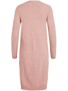 viril l/s long knit cardigan-noos 14042770 vila vest brandied aprico/melange