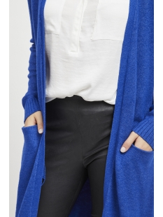 viril l/s long knit cardigan-noos 14042770 vila vest surf the web/melange