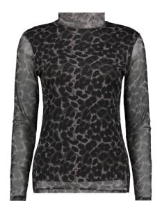 Luba T-shirt 8355 MALOU TOP PRINT GRIJS