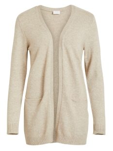 Vila Vest VIRIL L/S  OPEN KNIT CARDIGAN-NOOS 14044041 Natural Melange