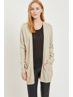 viril l/s  open knit cardigan-noos 14044041 vila vest natural melange