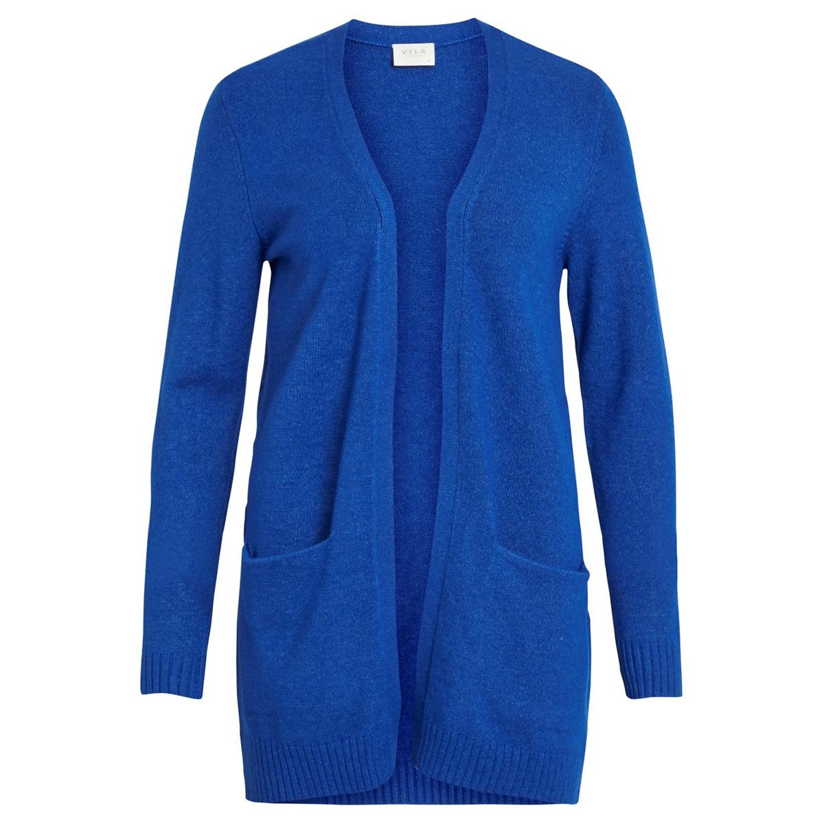 viril l/s  open knit cardigan-noos 14044041 vila vest surf the web/melange