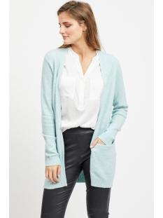 viril l/s  open knit cardigan-noos 14044041 vila vest blue haze/melange