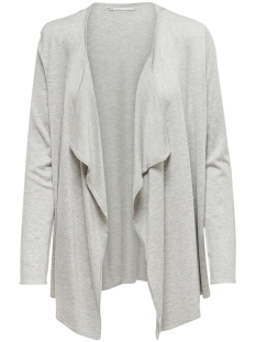 Only Vest onlMILA L/S DRAPED CARDIGAN KNT NOOS 15170158 Light Grey Melange