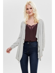 onlmila l/s draped cardigan knt noos 15170158 only vest light grey melange