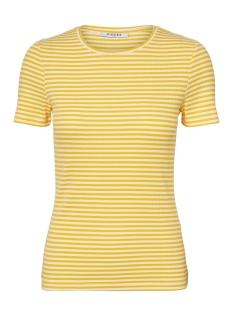 Pieces T-shirt PCLANA SS TOP 17092310 Bright White/LEMON CHROME