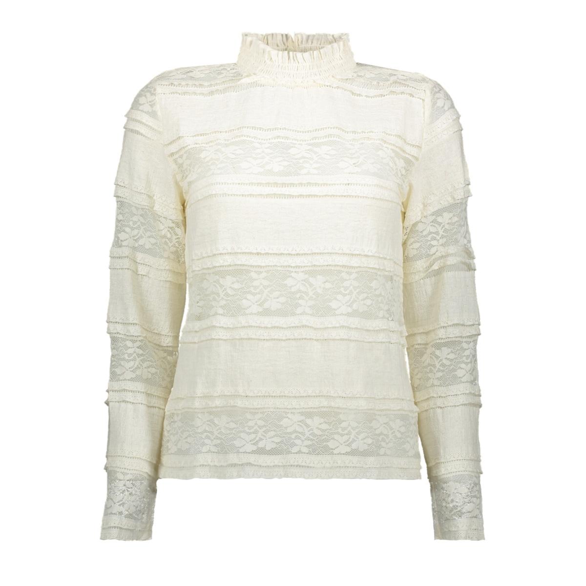 vmthea l/s lace top fd18 10214947 vero moda t-shirt pristine
