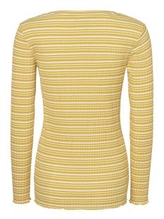 mllanja l/s jersey top a 20009491 mama-licious positie shirt super lemon/snow white