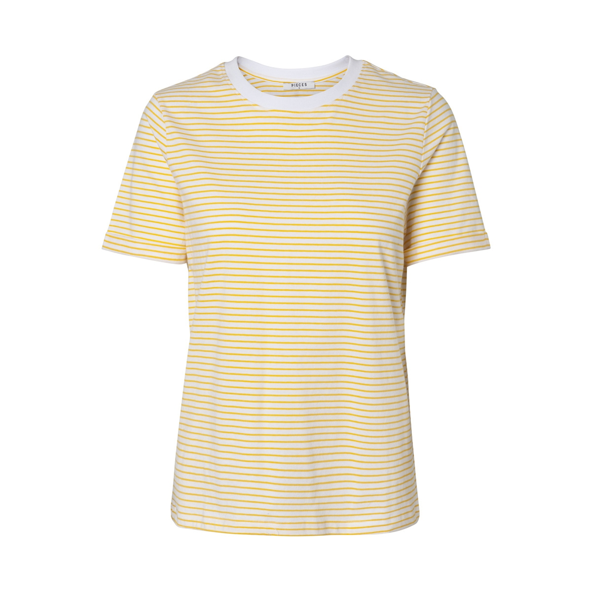 pcria ss fold up tee noos  17093747 pieces t-shirt bright white/lemon chrome