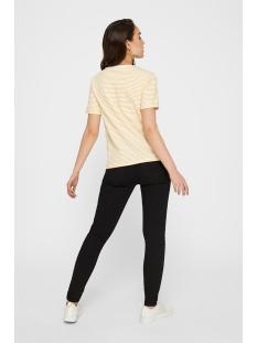 pcria ss fold up tee noos 17093747 pieces t-shirt bright white/lemon chrome