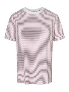 Pieces T-shirt PCRIA SS FOLD UP TEE NOOS 17093747 Bright White/MALAGA