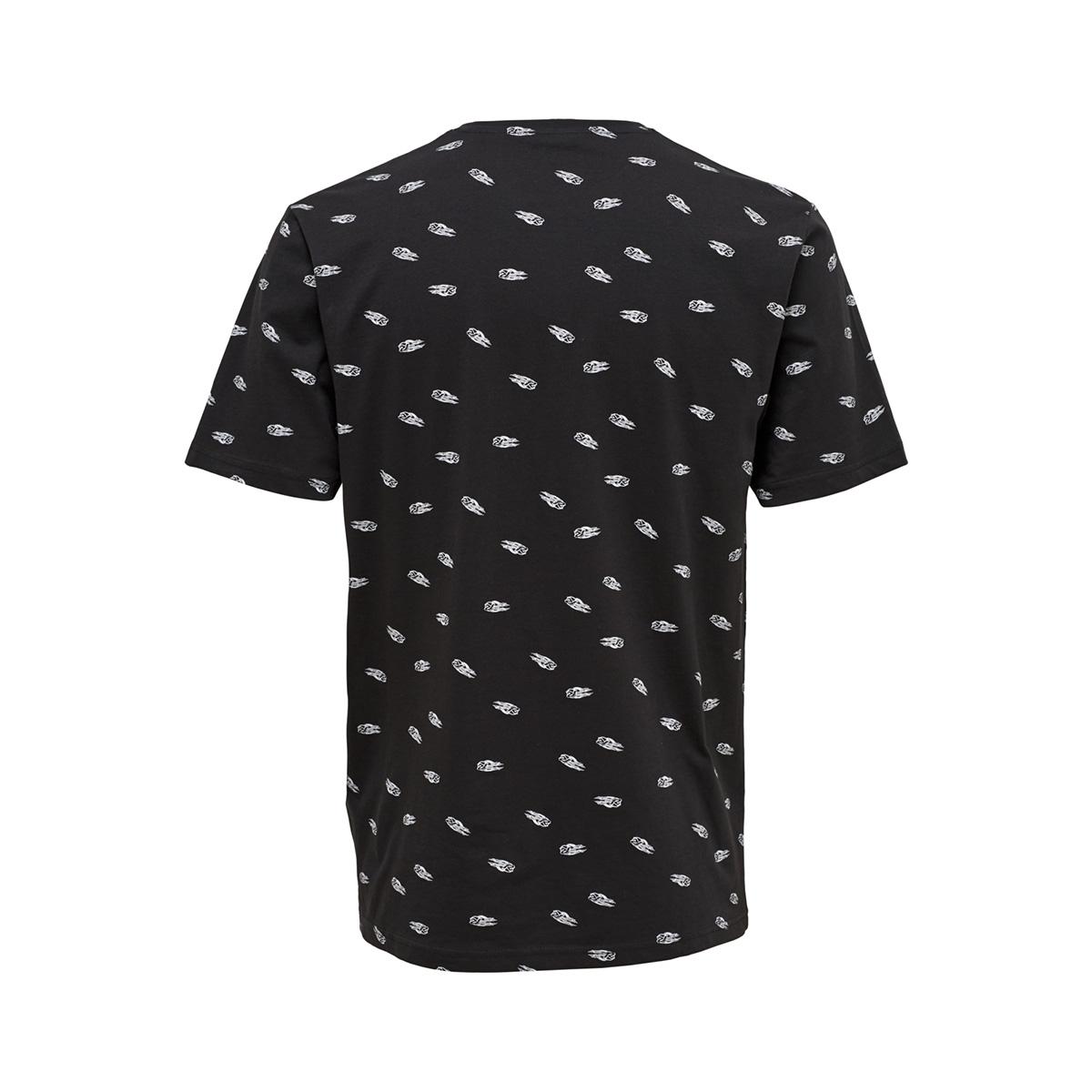onseddie aop ss reg tee 22011842 only & sons t-shirt black