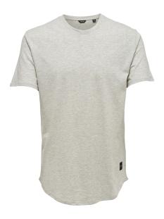 Only & Sons T-shirt onsMATT LONGY MELANGE SS TEE NOOS 22011753 White Melange