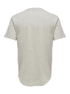 onsmatt longy melange ss tee noos 22011753 only & sons t-shirt white melange