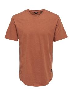 Only & Sons T-shirt onsMATT LONGY MELANGE SS TEE NOOS 22011753 Rooibos Tea