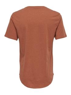 onsmatt longy melange ss tee noos 22011753 only & sons t-shirt rooibos tea