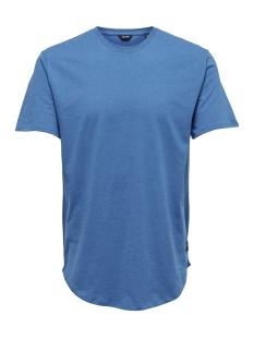 onsmatt longy melange ss tee noos 22011753 only & sons t-shirt imperial blue
