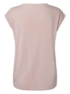 pcbillo tee lurex stripes noos 17078572 pieces t-shirt peachskin/silver lurex