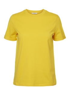 Pieces T-shirt PCRIA SS FOLD UP SOLID TEE NOOS 17086970 Lemon Chrome