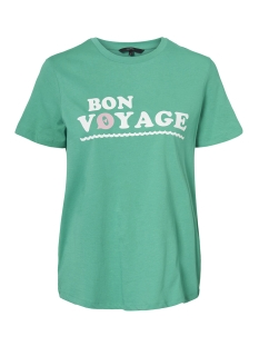 Vero Moda T-shirt VMVOYANGE OLLY SS TOP GA 10210572 Holly Green