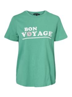 Vero Moda T-shirt VMVOYANGE OLLY SS TOP GA 10210572 Holly Green