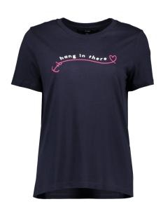 vmvoyange olly ss top ga 10210572 vero moda t-shirt night sky