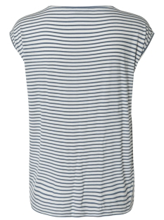 pcbillo new tee noos 17087913 pieces t-shirt bright white/ coronet blue