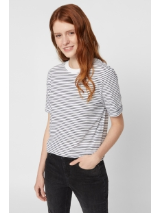 Pieces T-shirt PCRIA SS FOLD UP TEE NOOS 17093747 Bright White/ MARITIME B
