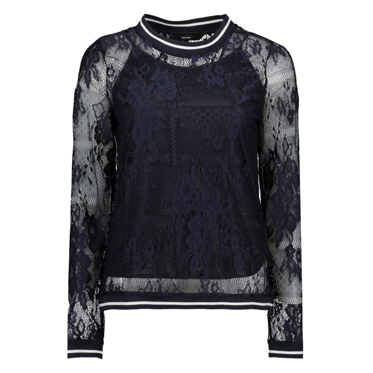 vmbine l/s midi top jrs 10211738 vero moda t-shirt night sky