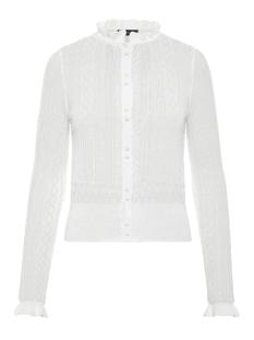 Vero Moda Vest VMASTIA LS RUFFLENECK SHORT CARDIGAN 10210543 Snow White