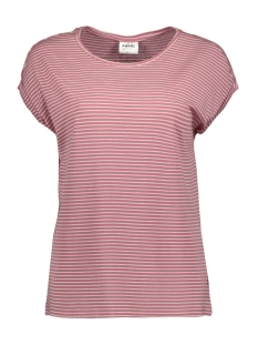 Vero Moda T-shirt VMAVA PLAIN SS TOP STRIPE GA NOOS 10211785 Foxglove/SNOW WHITE