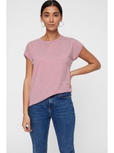 vmava plain ss top stripe ga noos 10211785 vero moda t-shirt foxglove/snow white