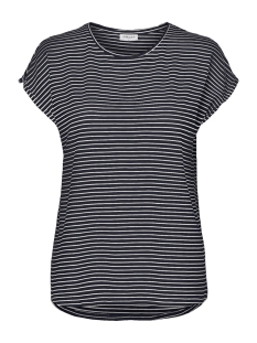 Vero Moda T-shirt VMAVA PLAIN SS TOP STRIPE GA NOOS 10211785 Night Sky/SNOW WHITE