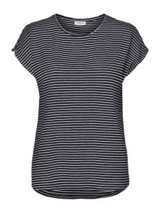 vmava plain ss top stripe ga noos 10211785 vero moda t-shirt night sky/snow white